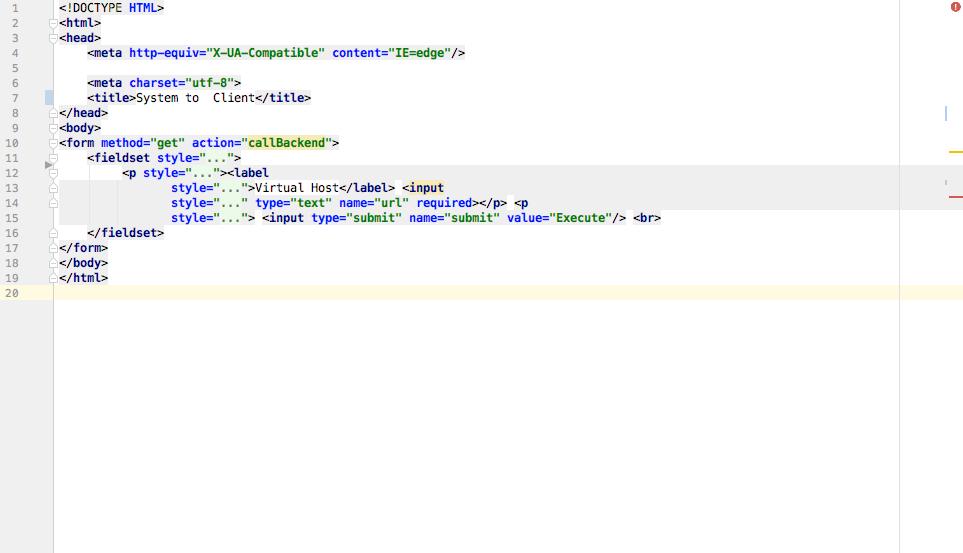 java html