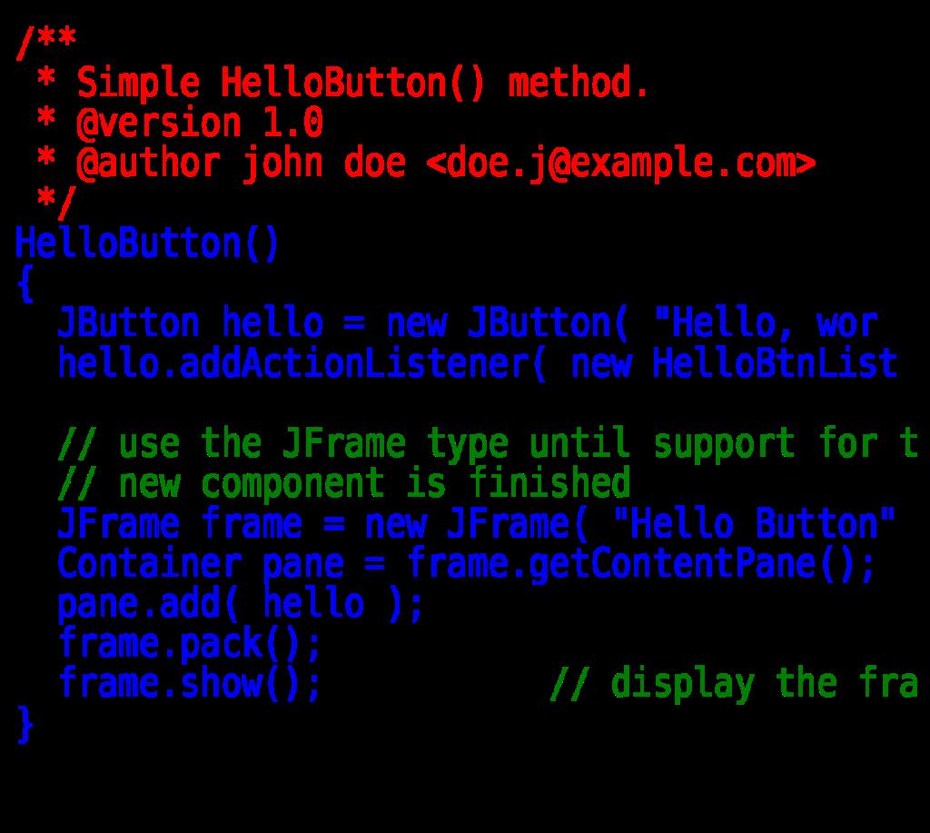 hello html example