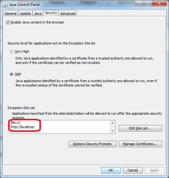 java applets et windows 10