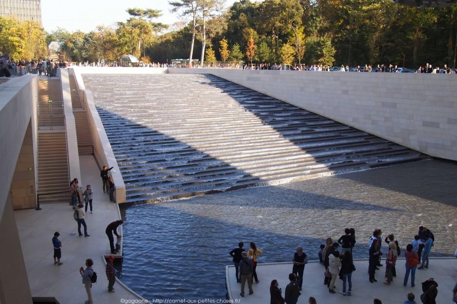 mur cascade d'eau intérieur