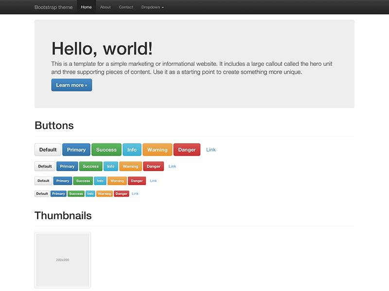 basic html hello world page